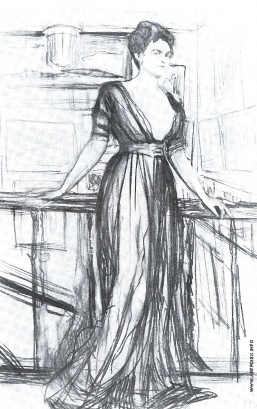 Серов В. А. Портрет П.И. Щербатовой. Набросок