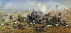 Манизер Г. М. Бой под Плевной за крепость Никополь. 1877 год