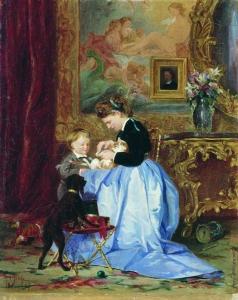 Якоби В. И. Семья художника