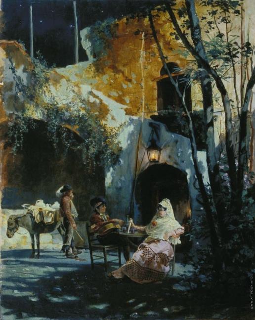 Якоби В. И. Дворик в Севилье