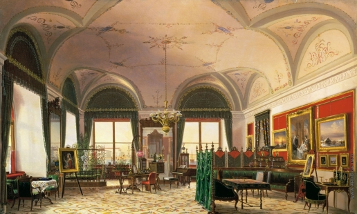 Юшков Ф. О. Кабинет великой княжны Ольги Николаевны в Зимнем дворце