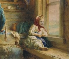 Горохов И. Л. Девочка у окна