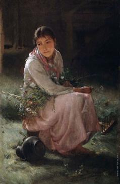 Лемох К. В. Девушка на гумне