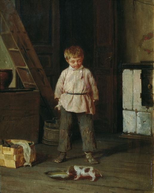 Лемох К. В. Мальчик с собакой
