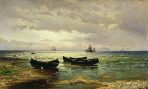 Волков Е. Е. Взморье. Рыбацкие лодки