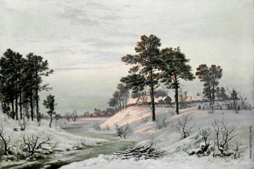 Экгорст В. Е. Зимний пейзаж