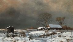 Экгорст В. Е. Зимний пейзаж с домом