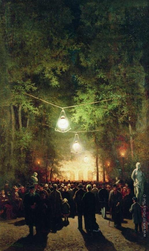 Волков Е. Е. Гулянье в Летнем саду