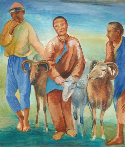 Кузнецов П. В. Мальчики-пастухи (Киргизские пастухи)