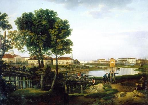Щедрин С. Ф. Вид с Петровского острова в Петербурге