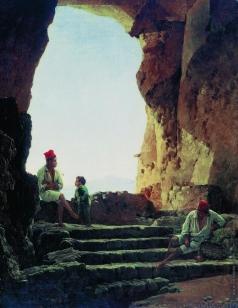 Щедрин С. Ф. Грот в Сорренто с видом на Везувий