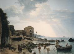 Щедрин С. Ф. Малая гавань в Сорренто с видом на острова Искья и Прочидо
