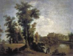 Щедрин С. Ф. Вид на Гатчинский дворец с Длинного острова