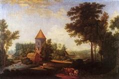 Щедрин С. Ф. Мельница и башня Пиль в Павловске