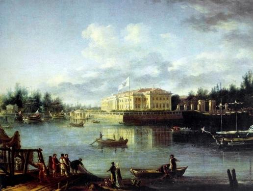 Щедрин С. Ф. Вид на Каменноостровский дворец через Большую Невку со стороны Строгановской набережной