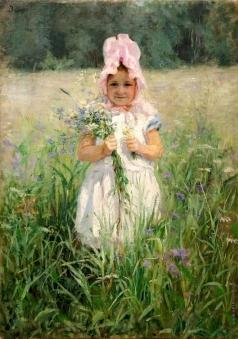 Шанкс Э. Я. В цветах (Портрет дочери В.Д. Поленова)