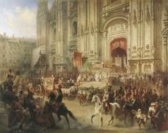 Шарлемань А. И. Торжественная встреча А.В.Суворова в Милане в апреле 1799 года