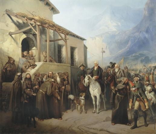 Шарлемань А. И. Фельдмаршал А.В. Суворов на вершине Сен-Готарда 13 сентября 1799 года