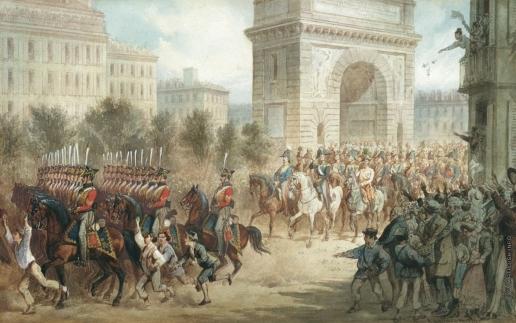 Шарлемань А. И. Вступление русских войск в Париж в 1814 году