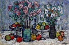 Шатковский А. Я. Цветы и яблоки в глечиках