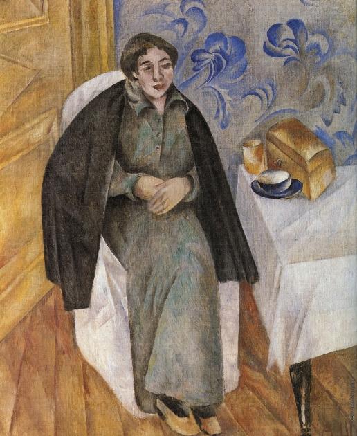 Шевченко А. В. Портрет женщины в зеленом платье
