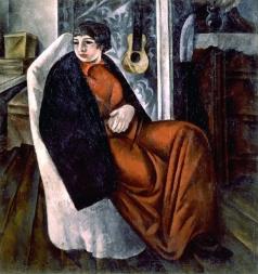 Шевченко А. В. Портрет женщины в красном платье