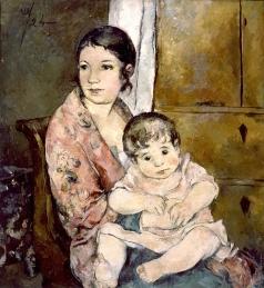 Шевченко А. В. Портрет жены с дочерью