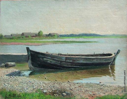 Волков Е. Е. Лодка на реке