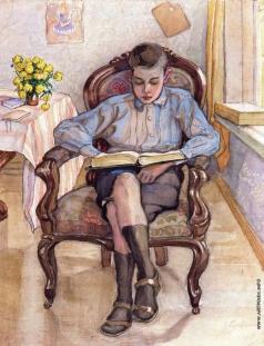 Серебрякова З. Е. Мальчик в кресле