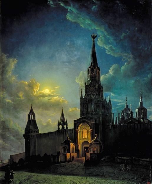 Рабус К. И. Спасские ворота в Москве