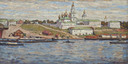 Петровичев П. И. Вид на Костромской Кремль через реку Волга