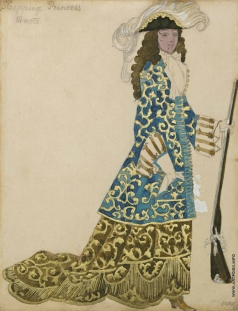 Бакст Л. С. Барон. Эскиз костюма к «Спящей красавице»