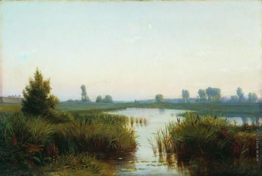 Волков Е. Е. Пейзаж с болотом
