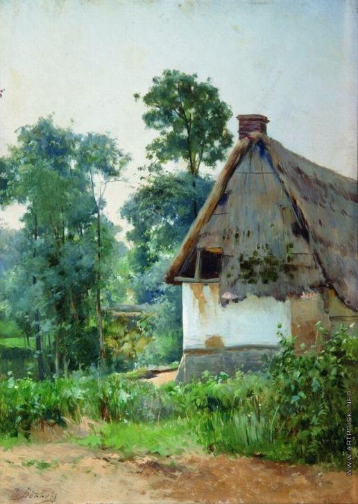 Волков Е. Е. Пейзаж с заброшенным домом