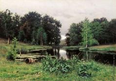 Волков Е. Е. Пейзаж с прудом