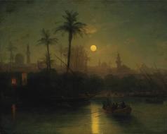 Айвазовский И. К. Вид на Цитадель Саладина с берегов Нила