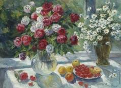 Налбандян Д. А. Натюрморт с розами и ромашками