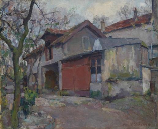 Лаховский А. Б. Дом весной