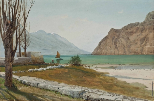 Бенуа А. Н. Вид на горное озеро