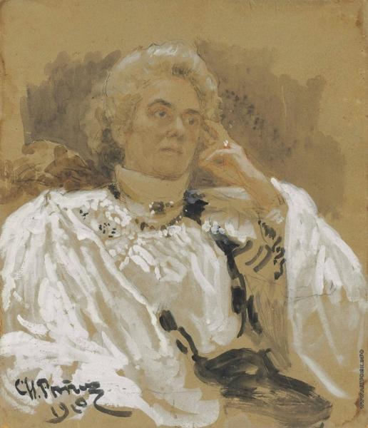 Репин И. Е. Портрет Веры Беренштам, урожденная Пупина