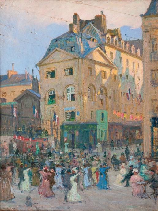 Лаховский А. Б. Улица в Париже