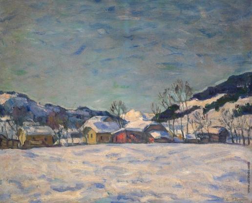 Лаховский А. Б. Зимняя деревня