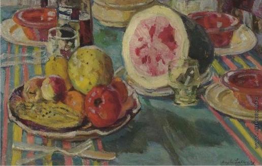 Лаховский А. Б. Стол с завтраком