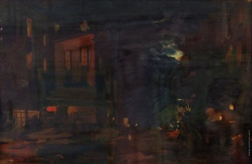 Коровин К. А. Улица Монмартр