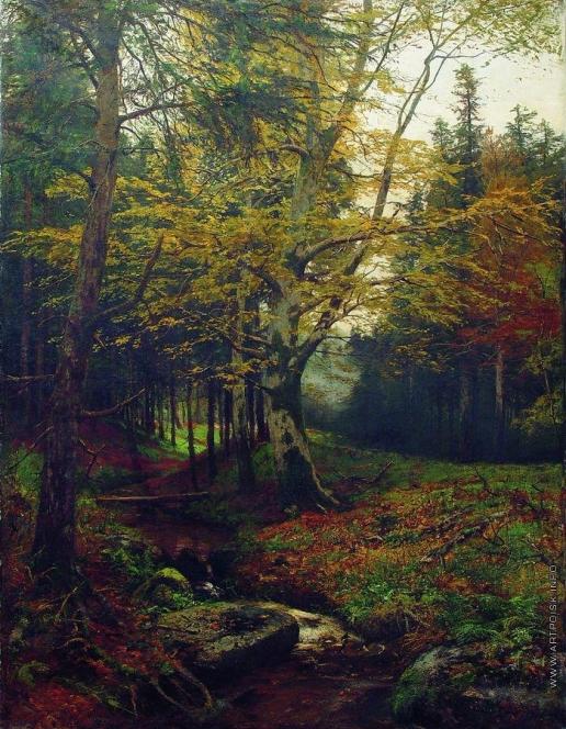 Волков Е. Е. Ручей в лесу