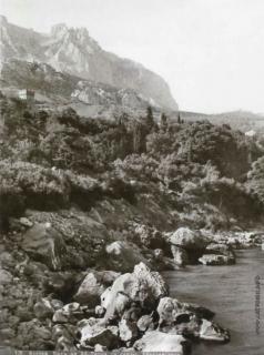 Сокорнов В. Н. Алупка. Вид на Ай-Петри со скалы Айвазовского