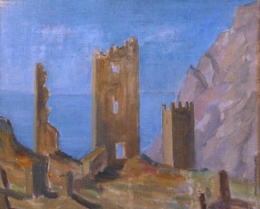 Ромм А. Г. Развалины Судакской крепости