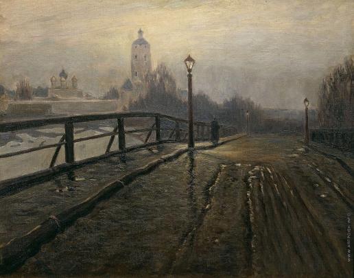 Гермашев М. М. Новоспасский мост. В марте