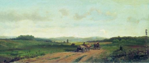 Волков Е. Е. Холмистый пейзаж с дорогой