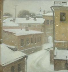 Пьянков И. А. Двор. Снег